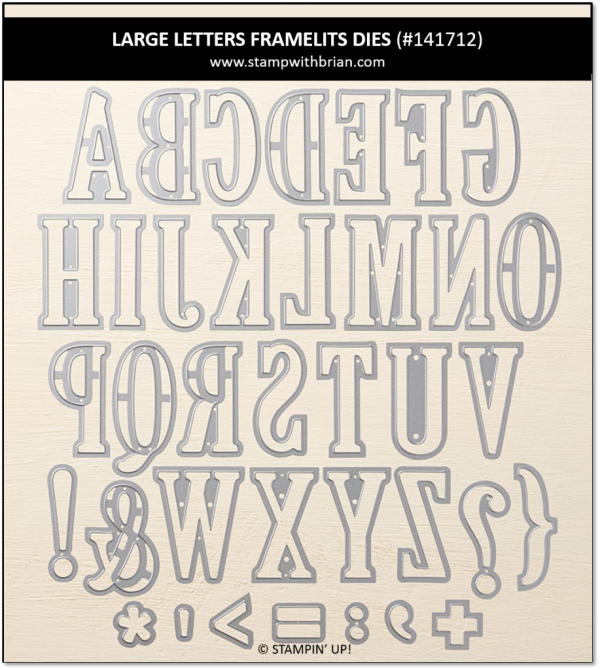 Large Letters Framelits Dies, Stampin' Up!, 141712