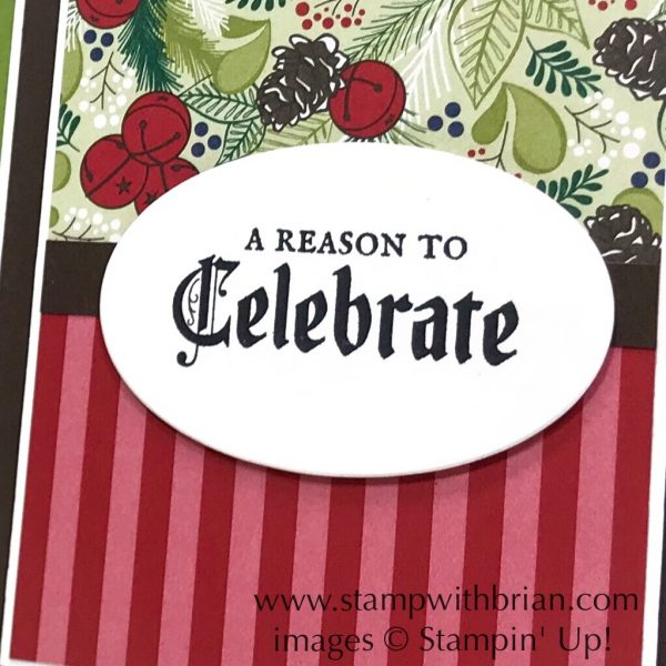 Painted Glass, Under the Mistletoe Designer Series Paper, Stampin' Up!, Brian King