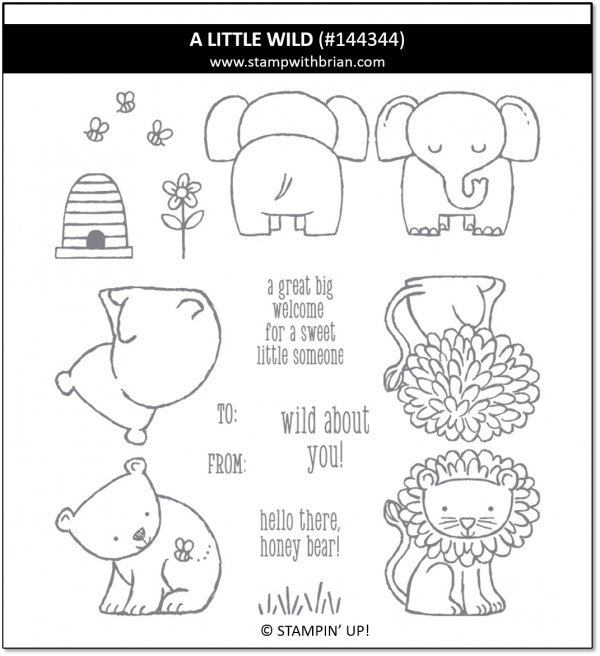 A Little Wild, Stampin' Up! 144344