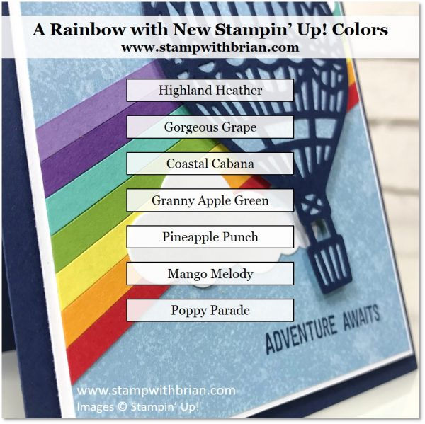 An Awesome Rainbow with New Stampin' Up! Colors, Stampin' Up!, Brian King, CTS287