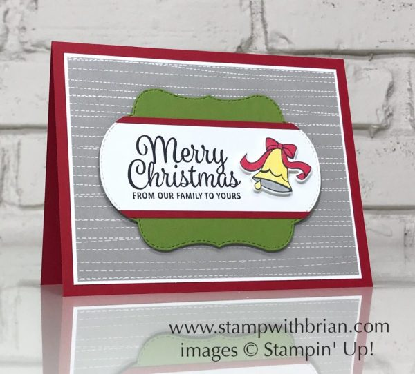 Blended Seasons, Snowflake Sentiments, Stampin' Up!, Brian King, Christmas card