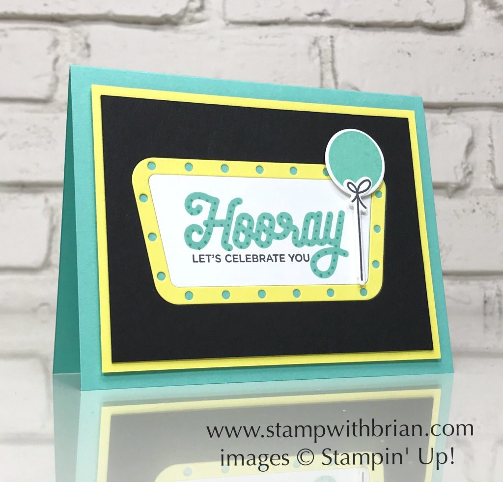 Broadway Birthday Bundle, Stampin' Up!, Brian King, birthday card