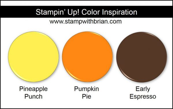 Stampin' Up! Color Inspiration: Pineapple Punch, Pumpkin Pie, Early Espresso