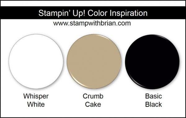 Stampin' Up! Color Inspiration: Whisper White, Crumb Cake, Basic Black