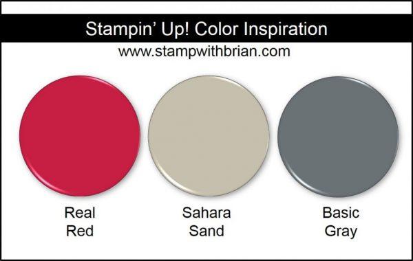 Stampin' Up! Color Inspiration: Real Red, Sahara Sand, Basic Gray