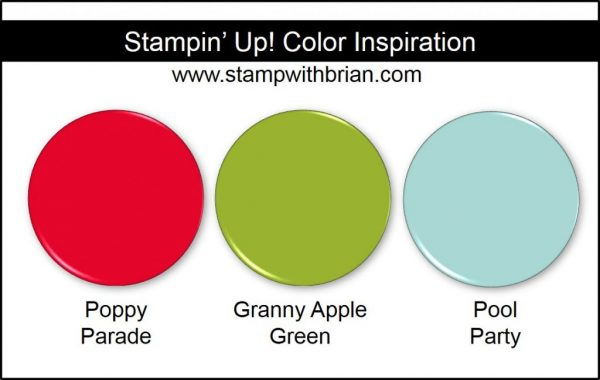 Stampin' Up! Color Inspiration: Poppy Parade, Granny Apple Green, Pool Party