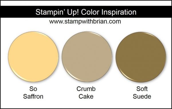 Stampin' Up! Color Inspiration: So Saffron, Crumb Cake, Soft Suede
