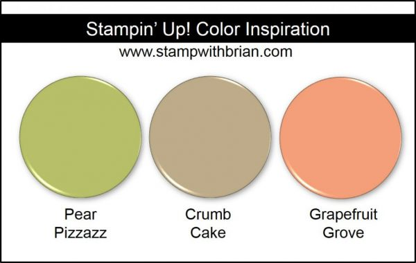 Stampin' Up! Color Inspiration: Pear Pizzazz, Crumb Cake, Grapefruit Grove