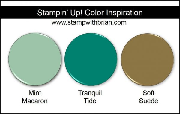 Stampin' Up! Color Inspiration: Mint Macaron, Tranquil Tide, Soft Suede