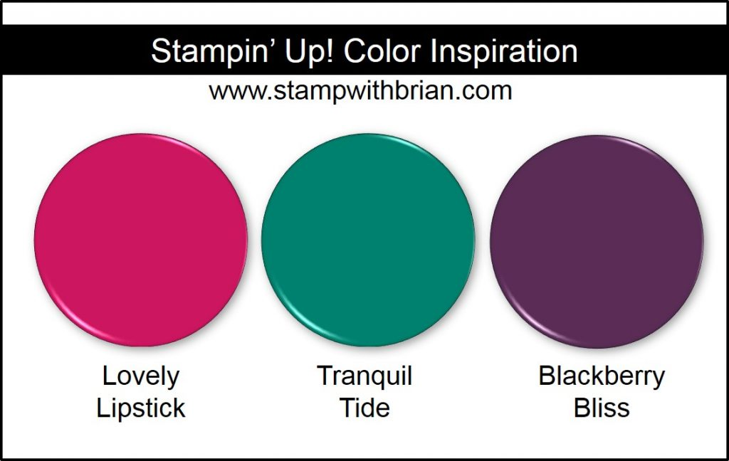 Stampin' Up! Color Inspiration: Lovely Lipstick, Tranquil Tide, Blackberry Bliss