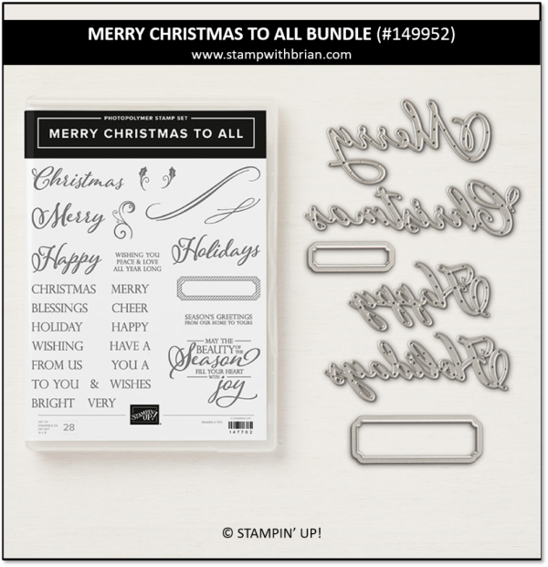 Merry Christmas to All Bundle, Stampin' Up!, 149952