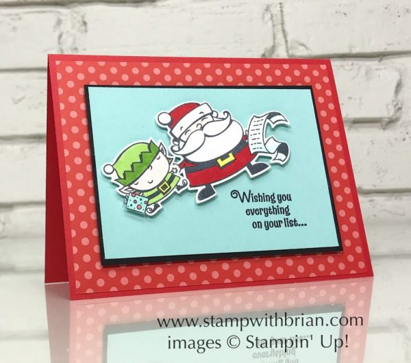 Signs of Santa, Stampin' Up!, Brian King