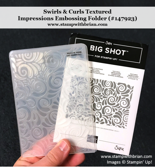 Swirls & Curls Textured Impressions Embossing Folder, Stampin' Up!, 147923