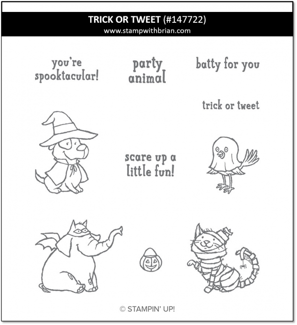 Trick or Tweet, Stampin' Up! 147722