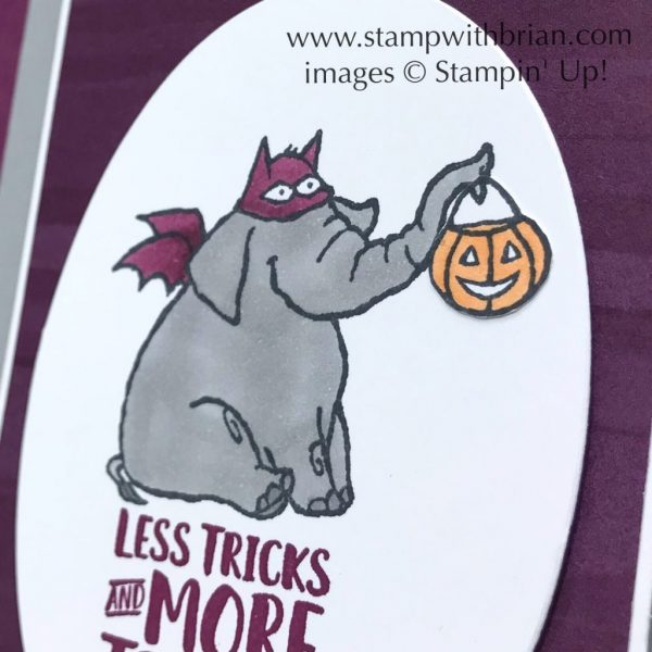 Trick or Tweet, Takeout Treats, Stampin' Up!, Brian King, GDP152, halloween card