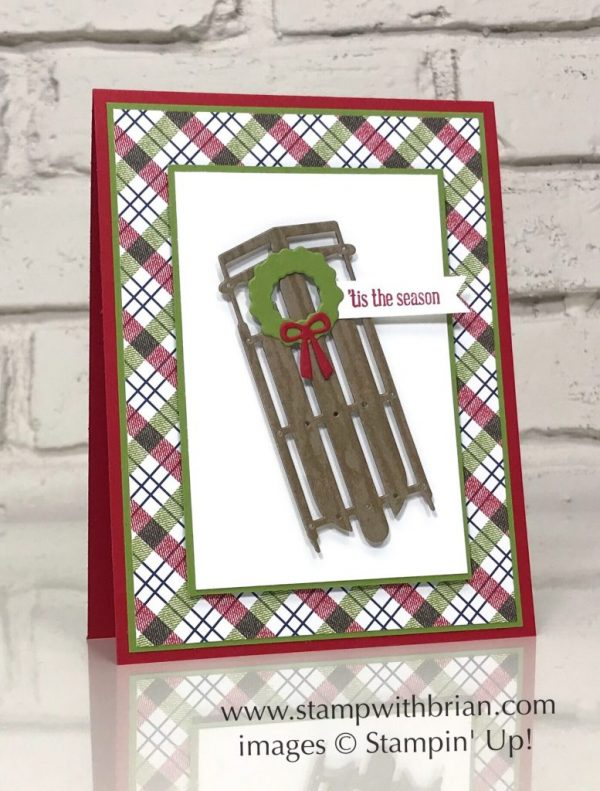 Alpine Sports Thinlits Dies, Itty Bitty Greetings, Stampin' Up!, Brian King, Christmas card