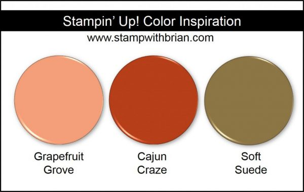 Stampin' Up! Color Inpsiration: Grapefruit Grove, Cajun Craze, Soft Suede