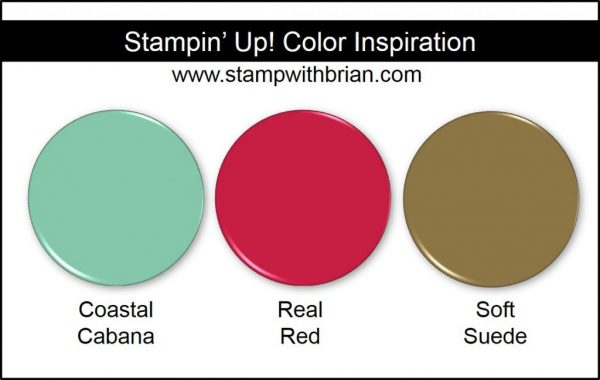 Stampin' Up! Color Inspiration: Coastal Cabana, Real Red, Soft Suede