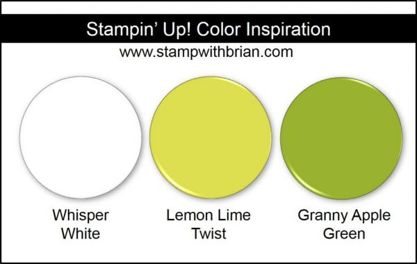 Stampin' Up! Color Inspiration: Whisper White, Lemon Lime Twist, Granny Apple Green