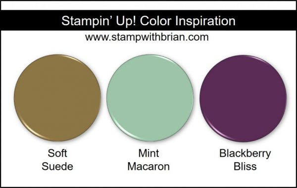 Stampin' Up! Color Inspiration: Soft Suede, Mint Macaron, Blackberry Bliss