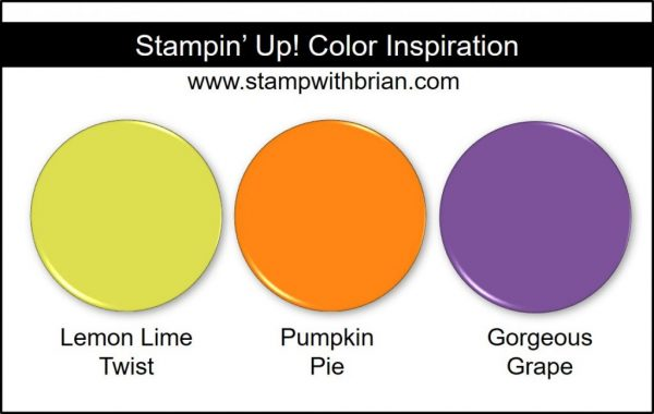 Stampin' Up! Color Inspiration: Lemon Lime Twist, Pumpkin Pie, Gorgeous Grape