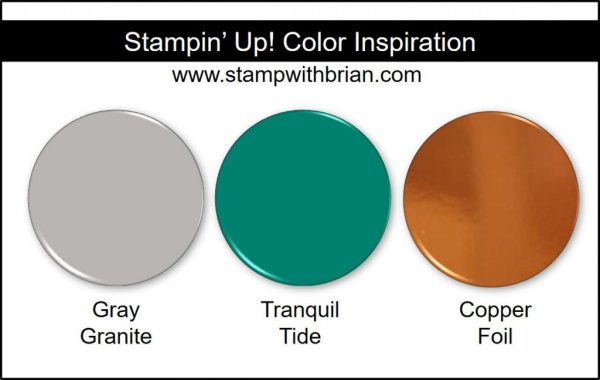 Stampin' Up! Color Inspiration: Gray Granite, Tranquil Tide, Copper Foil