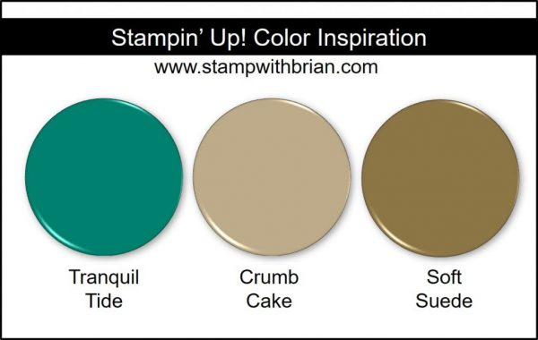 Stampin' Up! Color Inspiration: Tranquil Tide, Crumb Cake, Soft Suede