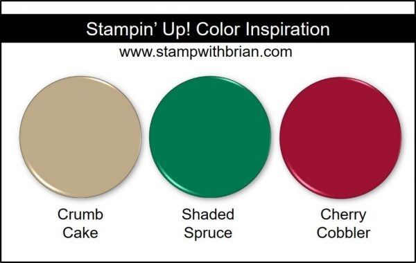 Stampin' Up! Color Inspiration: Crumb Cake, Shaded Spruce, Cherry Cobbler