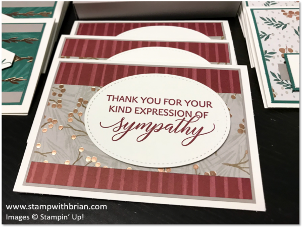 Cards of Sympathy, Joyous Noel Specialty Designer Series Paper, Kindness & Compassion, Stampin' Up!, Brian King