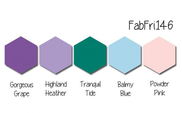 Stampin' Up! Color Inspiration: Gorgeous Grape, Highland Heather, Tranquil Tide, Balmy Blue, Powder Pink