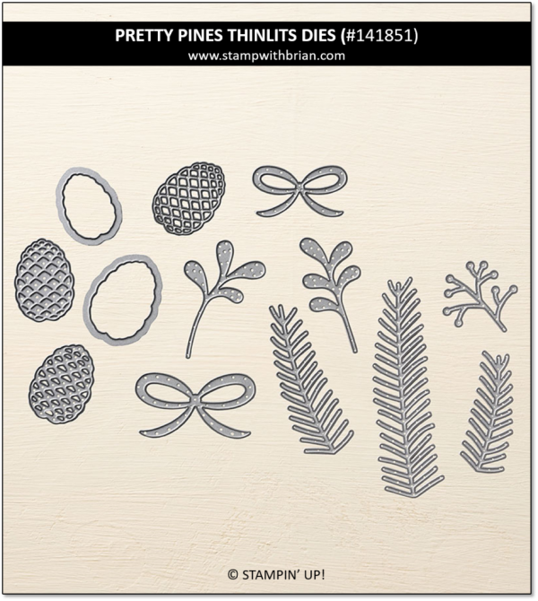 Pretty Pines Thinlits Dies, Stampin' Up! 141851