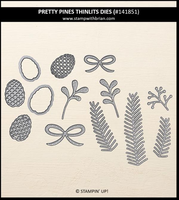 Pretty Pines Thinlits Dies, Stampin' Up! 141851