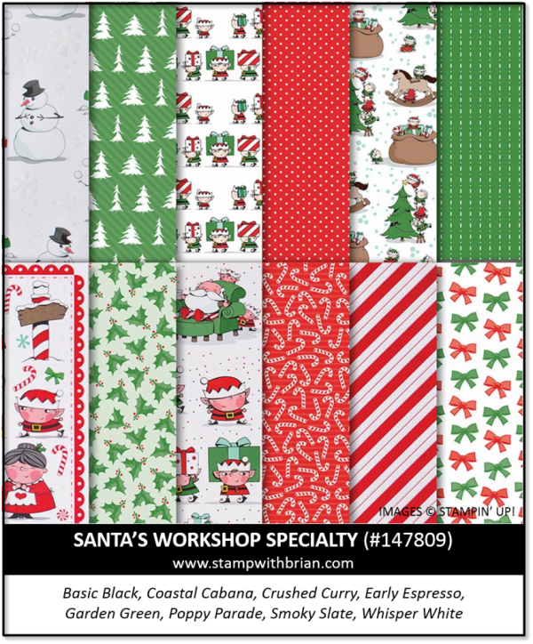 Santa's Workshop Specialty Designer Series Paper, Stampin' Up! 147809