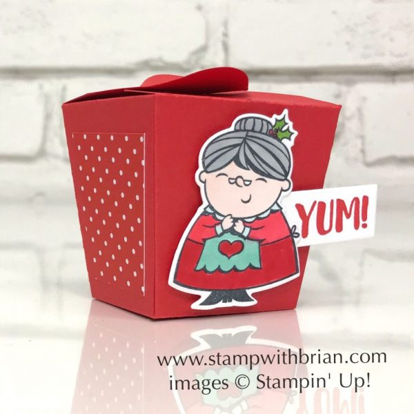 Signs of Santa, Takeout Treats, Takeout Thinlits Dies, Stampin' Up!, Brian King