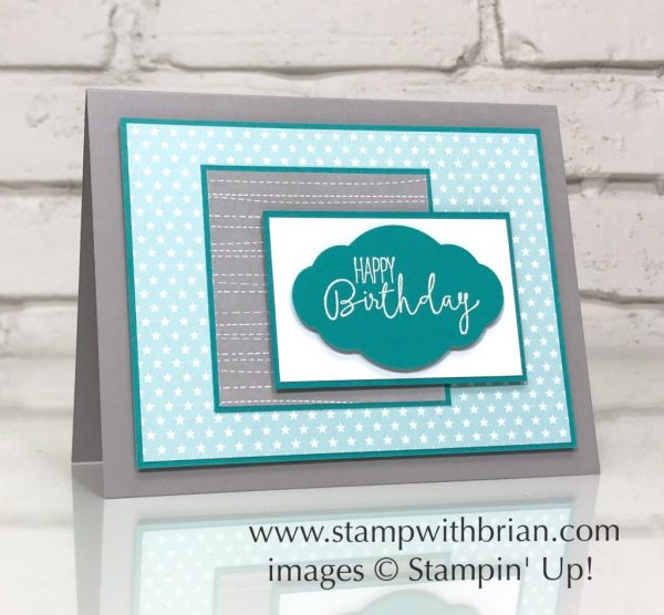 Special Celebrations, Twinkle Twinkle Designer Series Paper, Stampin' Up!, Brian King, birthday card