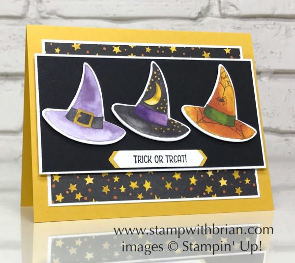 Toil & Trouble Designer Series Paper, Seasonal Chums, Stampin' Up!, Halloween card