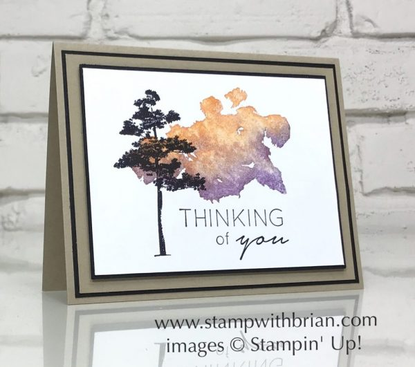 Beautiful Blizzard, Rooted in Nature, Another Wonderful Year, Stampin' Up!, Brian King, thanking of you card