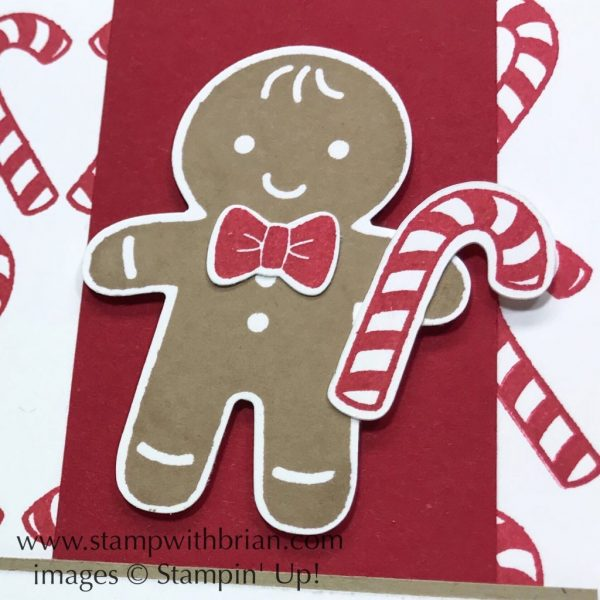 Candy Cane Season, Cookie Cutter Builder, Stampin' Up!, Brian King, sweet Christmas card