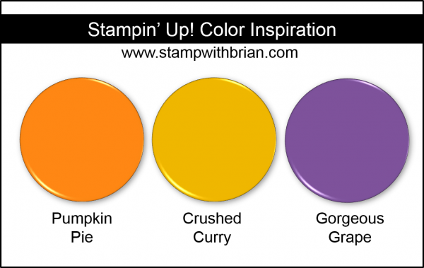 Stampin' Up! Color Inpsiration: Pumpkin Pie, Crushed Curry, Gorgeous Grape