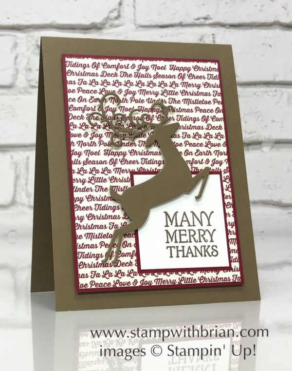 Dashing Deer, Festive Farmhouse Designer Series Paper, Stampin' Up!, Brian King, Christmas card