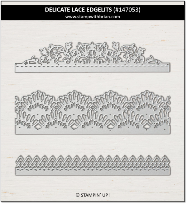 Delicate Lace Edgelits Dies, Stampin' Up!, 147053