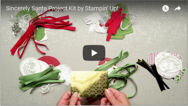 Sincerely Santa Project Kit Video, Stampin' Up!