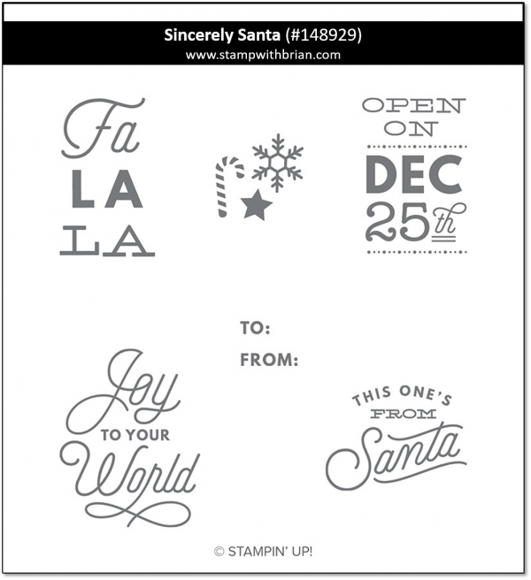 Sincerely Santa, Stampin' Up!, 148929