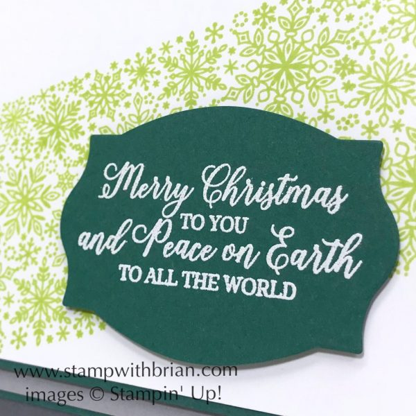 Snow is Glistening, Foliage Frames, Stampin' Up!, Brian King, Christmas card