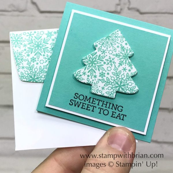Snow is Glistening, Takeout Treats, Sweetly Stitched Framelits, Stampin' Up!, Brian King