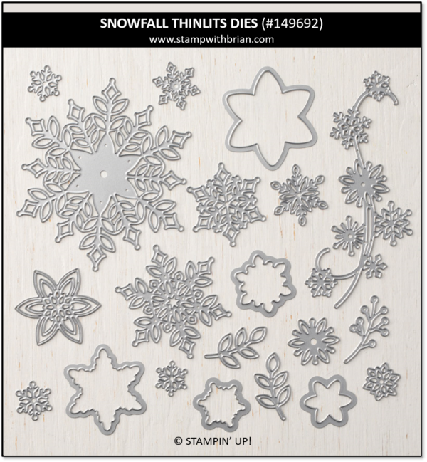 Snowfall Thinlits Dies, Stampin' Up!, 149692