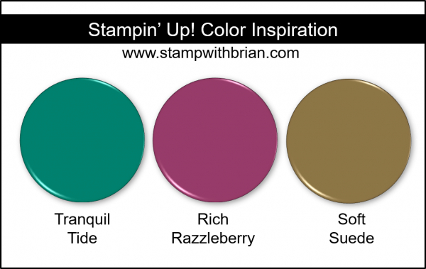 Stampin' Up! Color Inspiration - Tranquil Tide, Rich Razzleerry, Soft Suede