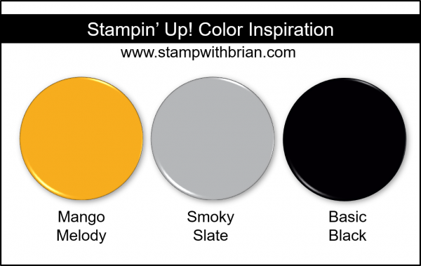 Stampin' Up! Color Inspriation - Mango Melody, Smoky Slate, Basic Black