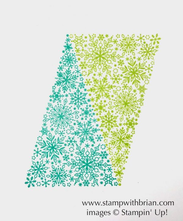 create patterns with the Christmas tree from Snow is Glistening, Stampin' Up!, Brian King