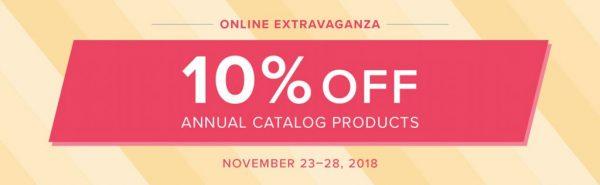 Stampin' Up!'s Online Extravaganza - November 23-28, 2018